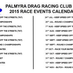 2015 RACE EVENT CALENDAR