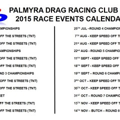 Palmyra Dragway – Race Event Calendar
