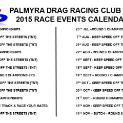 Race Calendar – Updated – July 2015