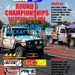 Round 5 Championships Featuring Mackay's Fastest Work Ute