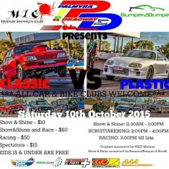 Classic Vs Plastic – Saturday 10th October 2015