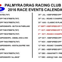 Updated Calendar 2016