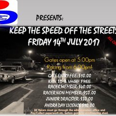 Keep The Speed of the Streets – 14th July 2017
