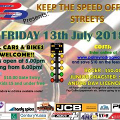 Keep the Speed off the Streets – Friday 13th July 2018