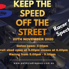 20th November 2020 – Keep the Speed off the streets!